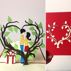 Atvirukas Nr. 22 Meilės medis