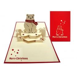 Kalėdinis Atvirukas MEŠKA